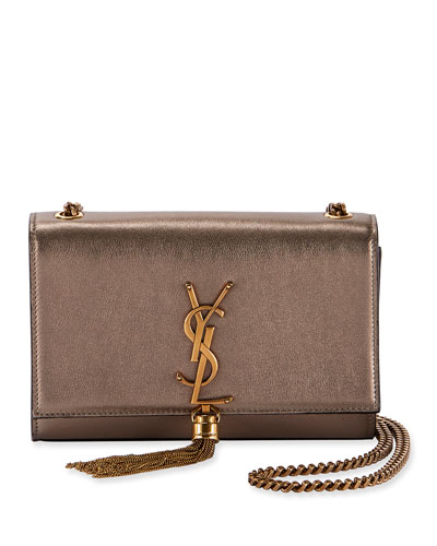Kate Small YSL Monogram Metallic Tassel Crossbody Bag
