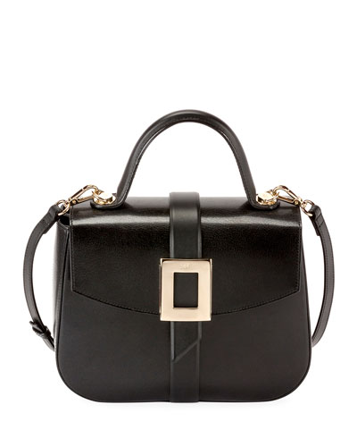 Beau Vivier Smooth Calf Leather Top-Handle Shoulder Bag