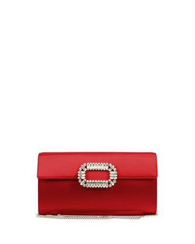 Envelope Flap Sexy Clutch Bag, Red