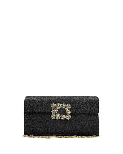 Envelope Flap Sexy Clutch Bag, Black