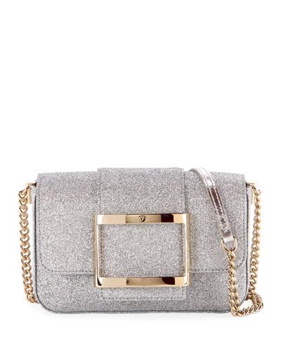 Tres Micro Glitter Clutch Bag