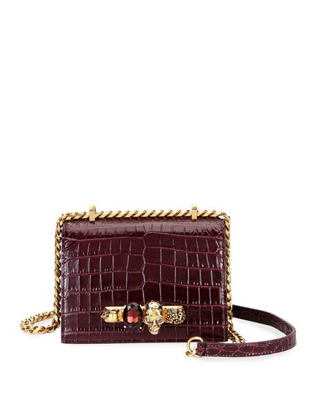 Alexander McQueen Jeweled Small Satchel Bag