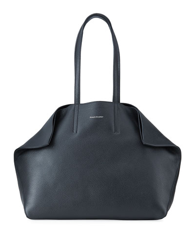 Butterfly Large Leather Tote Bag