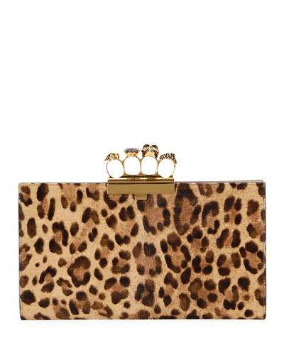 Four-Ring Cheetah Clutch Bag