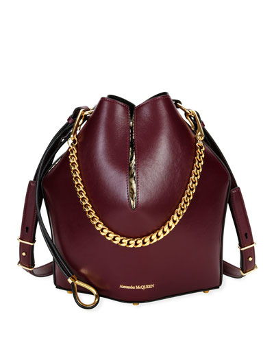The Bucket Bag in Shiny Calf Leather