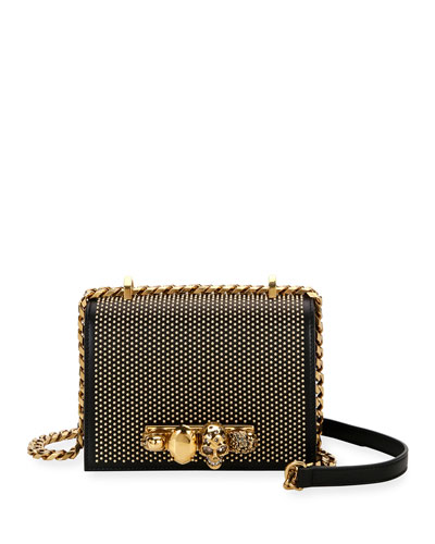 Jeweled Studded Shoulder Bag