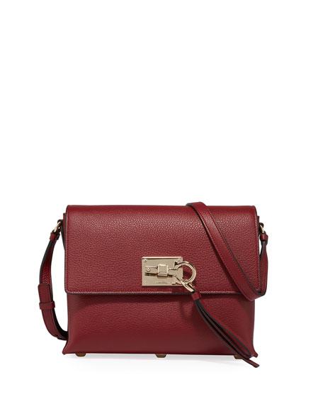Salvatore Ferragamo The Studio Small Crossbody Bag, Dark Red