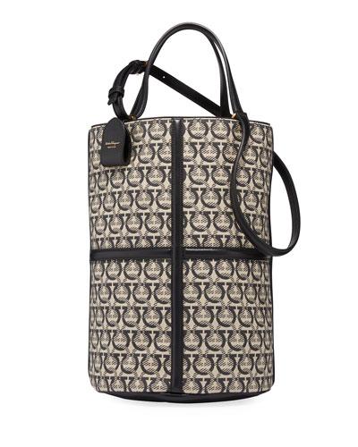 Gancini Jacquard Bucket Tote Bag