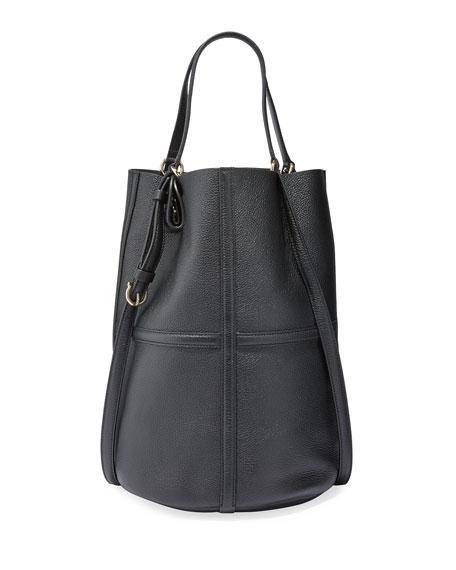 Salvatore Ferragamo Leather Medium Bucket Tote Bag