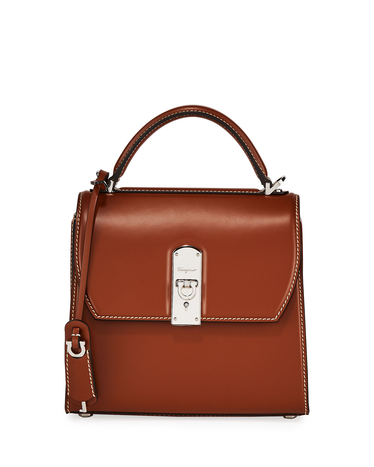 Salvatore Ferragamo Bags THE BOXY SMOOTH TOP HANDLE BAG