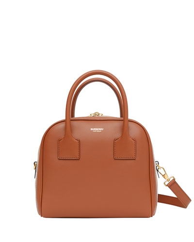 Small Smooth Leather Bowling Bag