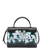 Off-White Jitiney Graffiti Top Handle Bag