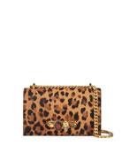 Alexander McQueen Jeweled Cheetah Satchel Shoulder Bag