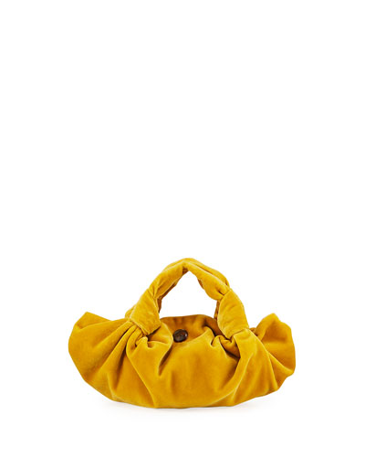 Ascot Two Velvet Top Handle Bag