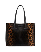 TOM FORD Small Leopard T Tote Bag