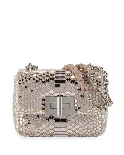 Natalia Small Soft Mirror Mosaic Shoulder Bag