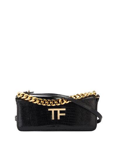 TF Chain Mini Baguette Clutch Bag