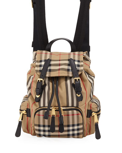 Rucksack Small Heritage Stripe Canvas Backpack