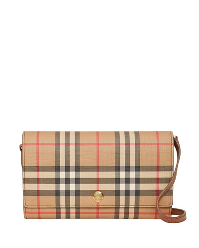 Hanna Vintage Check Crossbody Bag