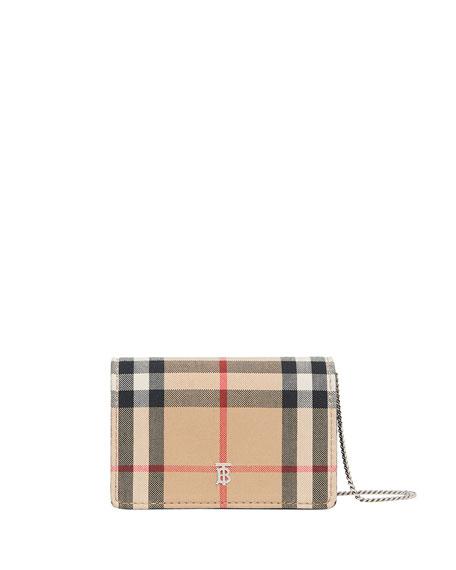 Burberry Jessie Vintage Check Crossbody Bag