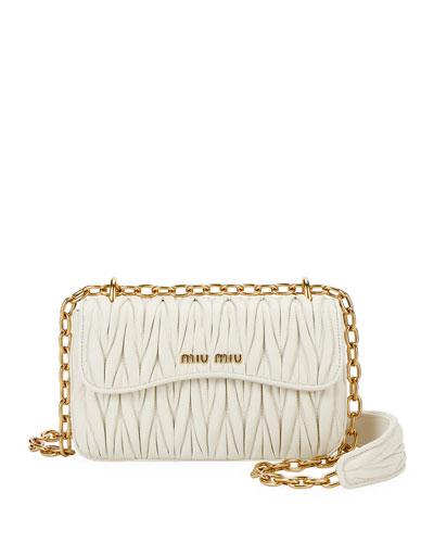 Matelasse Leather Crossbody Bag