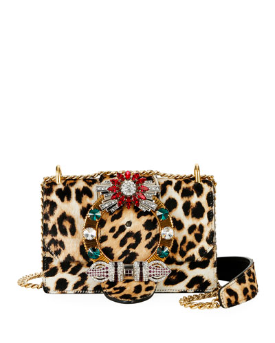 Cavallino Leopard Crystal Shoulder Bag