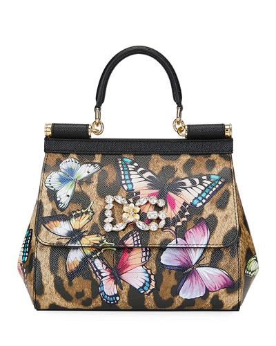 f98b41d7f168 Quick Look. Dolce & Gabbana · Sicily Small Leopard Top-Handle Bag ...