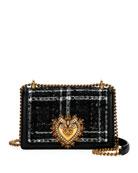 Dolce & Gabbana Devotion Medium Borsa Tweed Crossbody