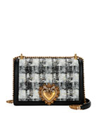 Dolce & Gabbana Devotion Borsa Tweed Crossbody Bag