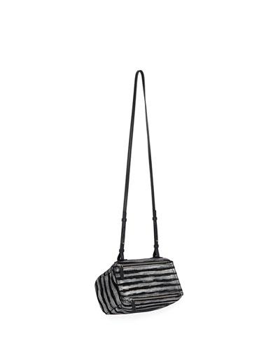 Pandora Mini Striped Crossbody Bag