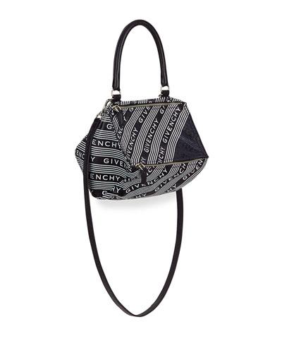 Pandora Small Bicolor Logo Satchel Bag