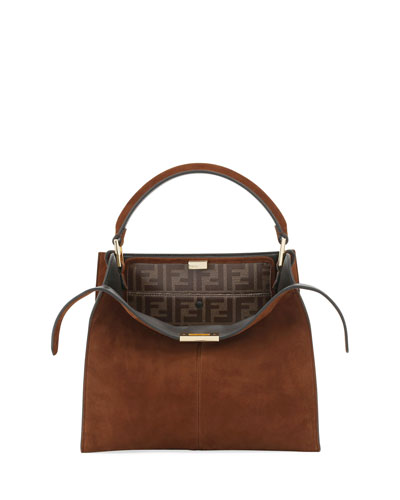 Peekaboo Suede FF 1974 Top-Handle Bag