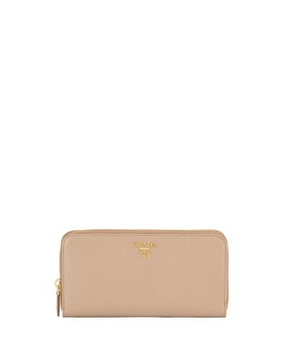Saffiano Zip-Around Wallet