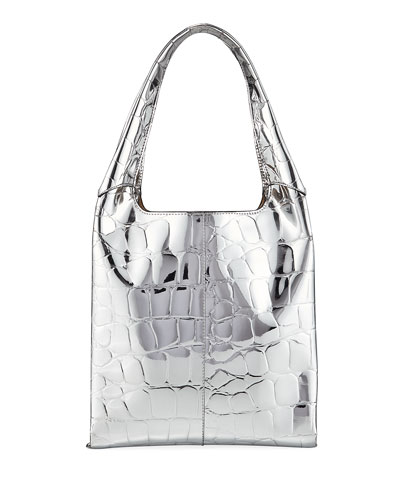 a4ec865ce Quick Look. Hayward · Grand Shopper Medium Embossed Faux-Leather Tote Bag.  Available in Silver