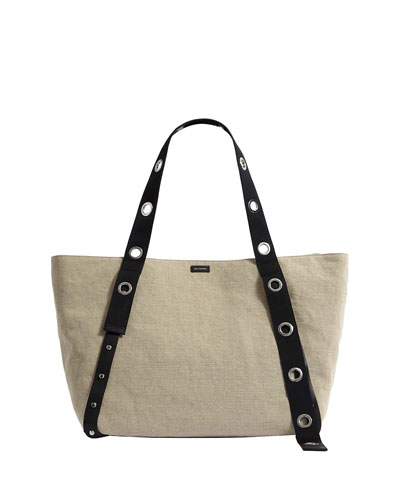 e87974c4a74 Zip Top Canvas Tote Bag | Neiman Marcus