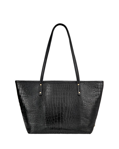 Gigi New York Taylor Crocodile-Embossed Tote Bag