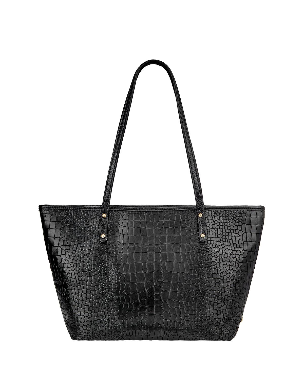 Taylor Crocodile-Embossed Tote Bag