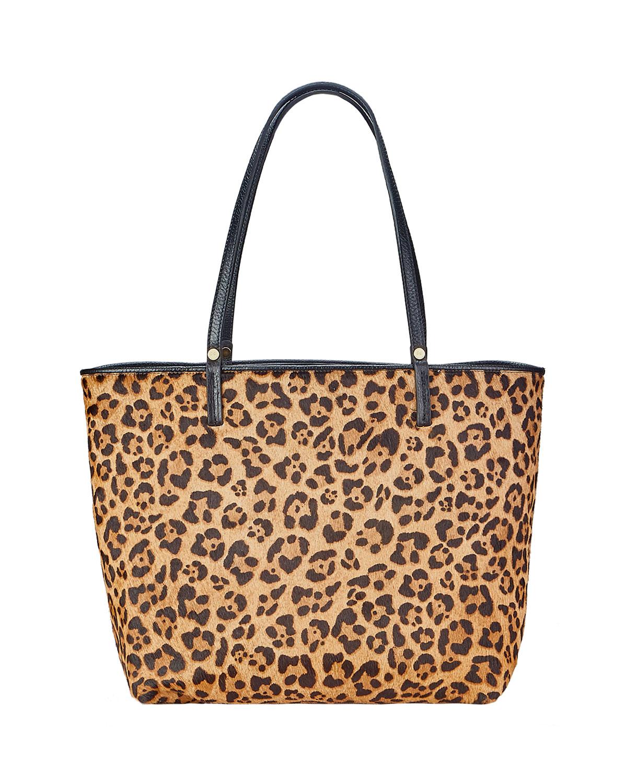Tori Leopard-Print Tote Bag