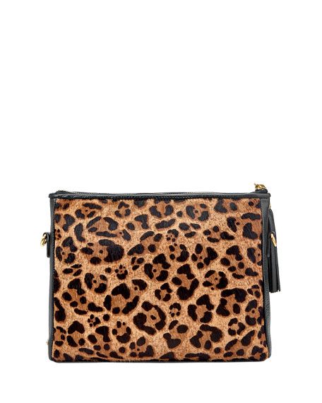 Gigi New York Hailey Leopard Hair Crossbody Bag