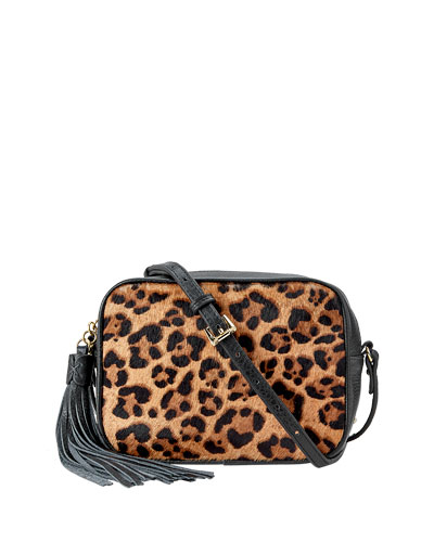 Madison Leopard Hair Crossbody Bag