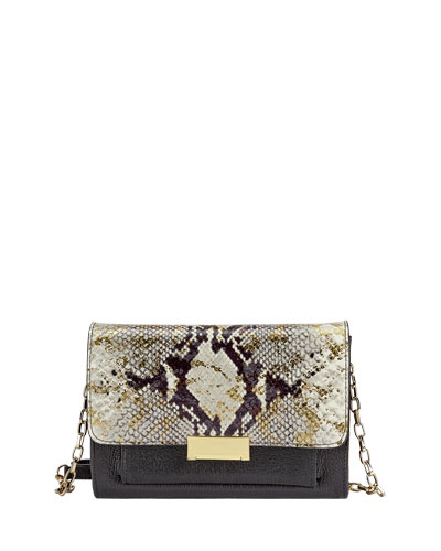 Kate Python-Embossed Small Crossbody Bag