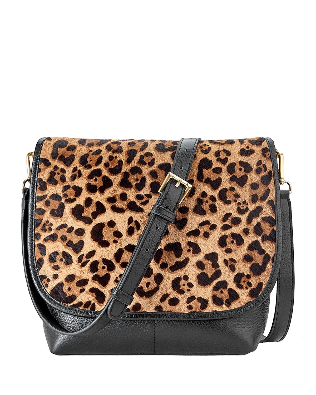 Andy Leopard Flap Top Crossbody Bag