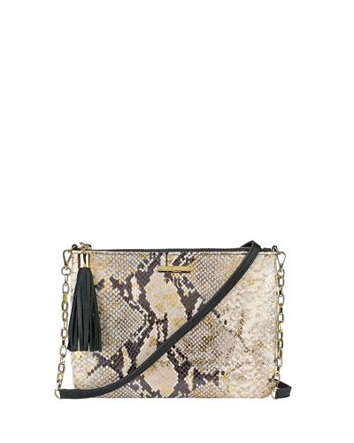 Chelsea Python-Embossed Crossbody Bag