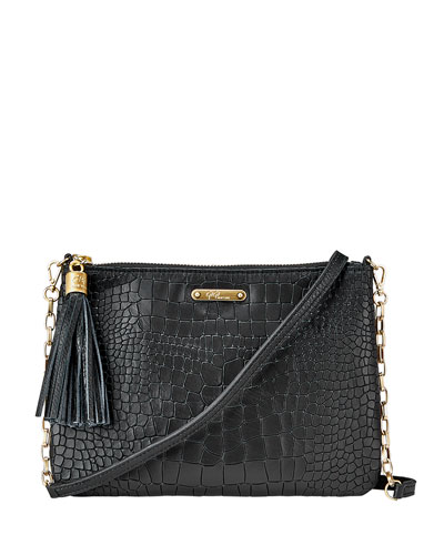 Chelsea Croc-Embossed Leather Crossbody Bag