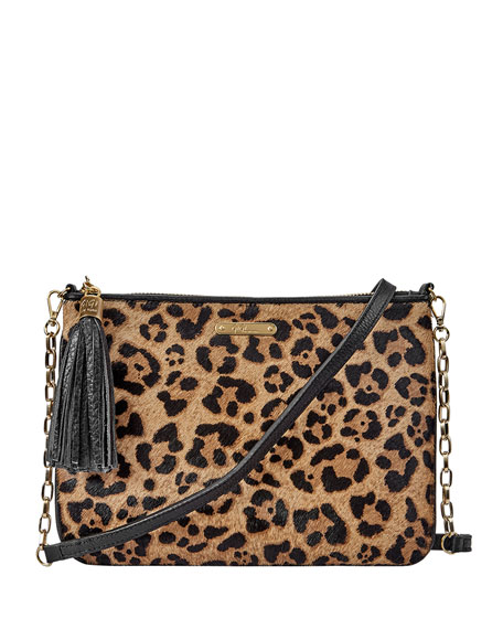 Gigi New York Chelsea Leopard-Print Crossbody Bag