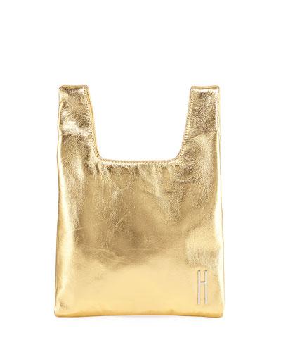 Mini Foiled Shopper Tote/Clutch Bag