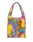 Hayward Grand Shopper Medium Python Tote Bag