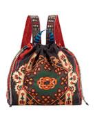 Etro Neo Nomad Satin Drawstring Backpack