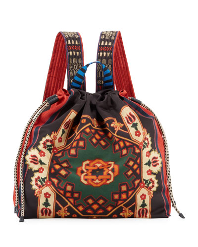 Neo Nomad Satin Drawstring Backpack