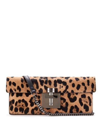 Slim Alibi Leopard Shoulder Bag